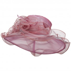 Iridescent Polyester Roses Organza Hat