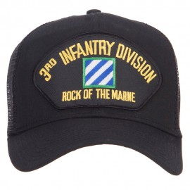3rd Infantry Division Patched Mesh Cap - Black