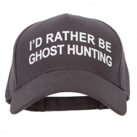 I'd Rather Be Ghost Hunting Heat Transfer 5 Panel Cotton Jersey Knit Cap