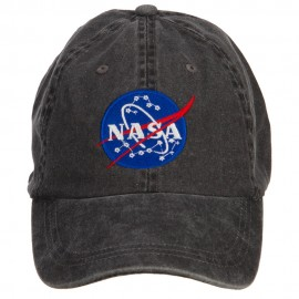 NASA Insignia Embroidered Washed Cap - Black