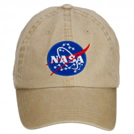 NASA Insignia Embroidered Washed Cap - Khaki