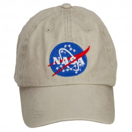 NASA Insignia Embroidered Washed Cap - Beige