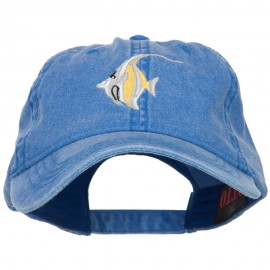 Angelfish Embroidered Washed Cotton Cap