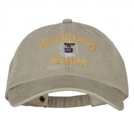 U.S. Air Force Veteran Embroidered Big Size Washed Cap