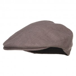 Big Size Men's Linen Ivy Cap - Charcoal