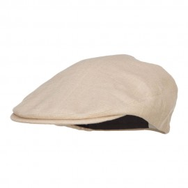 Big Size Men's Linen Ivy Cap - Khaki