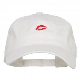 Mini Lips Embroidered Washed Cap