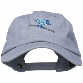 Skiing Embroidered Unstructured Washed Cap