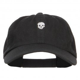 Mini Skull Embroidered Low Cap