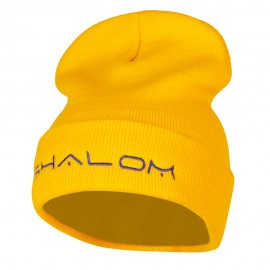 Shalom Embroidered Long Knitted Beanie