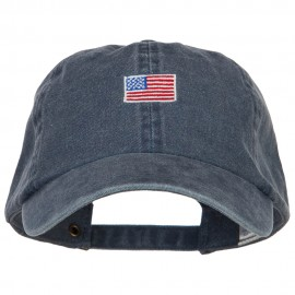 Mini American Flag Embroidered Wash Cap