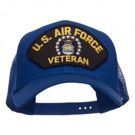 US Air Force Veteran Military Patched Mesh Cap