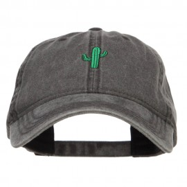 Single Cactus Embroidered Washed Cap