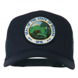 Indiana State Patched Mesh Cap