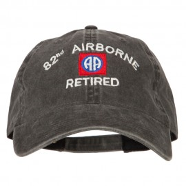 82nd Airborne Retired Embroidered Washed Cotton Twill Cap
