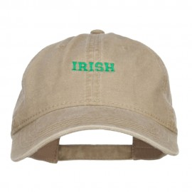 Mini Irish Embroidered Washed Cap