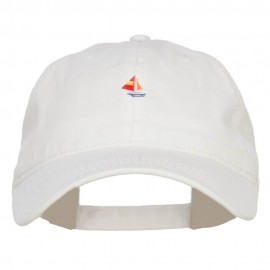Mini Sailboat Embroidered Washed Cap