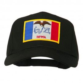 Middle State Iowa Embroidered Patch Cap