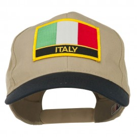 Italy Europe Flag Patched Two Tone High Cap