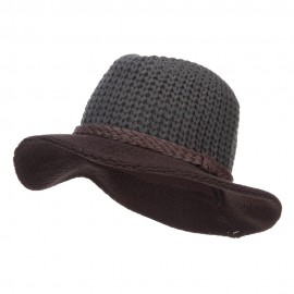 Women's Knit Wide Brim Fedora