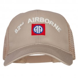 82nd Airborne Logo Embroidered Solid Cotton Mesh Pro Cap
