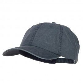 Big Size Washed Pigment Dyed Cap - Navy