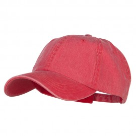 Big Size Washed Pigment Dyed Cap - Red