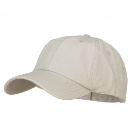 Big Size Washed Pigment Dyed Cap - Stone