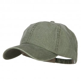 Big Size Washed Pigment Dyed Cap - Olive