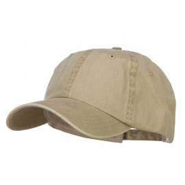 Big Size Washed Pigment Dyed Cap - Khaki
