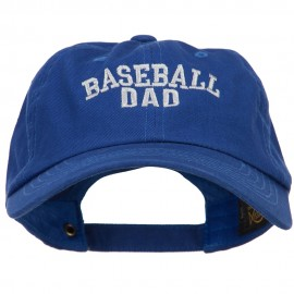 Baseball Dad Embroidered Unstructured Cotton Cap