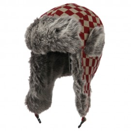Jacquard Checkered Trooper Hat