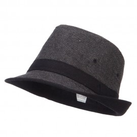 Boy's Cotton Blend Trimmed Fedora