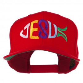 Jesus Fish Embroidered Flat Bill Cap