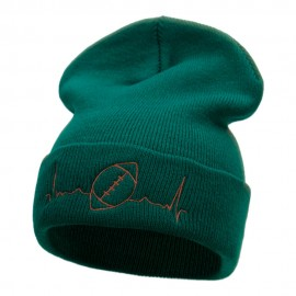 Football Beat Embroidered Long Beanie