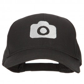 Camera Design Photographer Embroidered Solid Cotton Cap