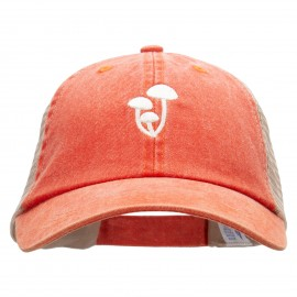 Beech Mushrooms Embroidered Washed Trucker Cap