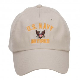 US Navy Retired Military Embroidered Washed Cap