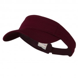Athletic Jersey Mesh Sports Visor - Maroon