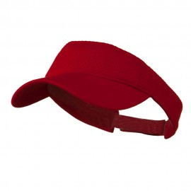 Athletic Jersey Mesh Sports Visor - Red