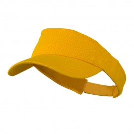 Athletic Jersey Mesh Sports Visor - Gold