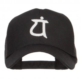 Japanese Symbol Embroidered Mesh Cap