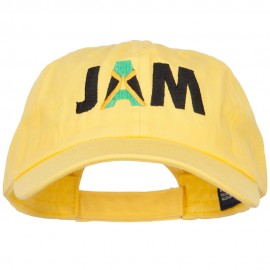 Jamaica JAM Flag Embroidered Low Profile Cap