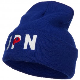 Japan JPN Flag Embroidered Long Beanie