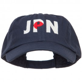 Japan JPN Flag Embroidered Low Profile Cap