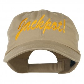Jackpot Embroidered Washed Cap