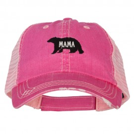 Mama Bear Embroidered Low Profile Cotton Mesh Cap