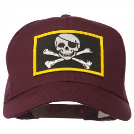 Jolly Roger Skull Patched Mesh Cap