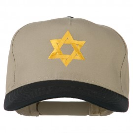 Jewish Star Embroidered Pigment Dyed Cap