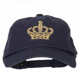 Glitter Crown Embroidered Unstructured Washed Cap